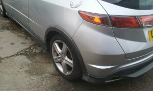 honda civic rear side damage