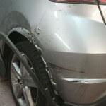 Honda Civic rear side damage
