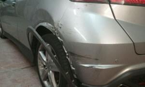 honda civic accident damage