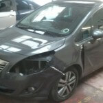 Vauxhall Meriva front accident damage